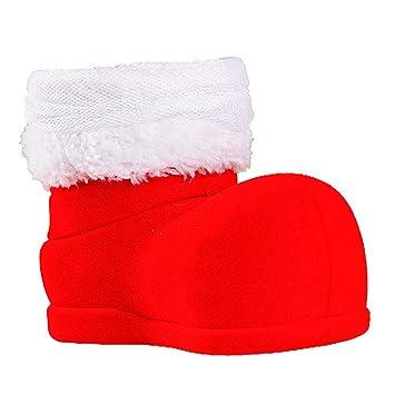 JUNMAONO Christmas Decoración, PVC Zapatos, Navidad Botas, Botas De Botella De Vino,