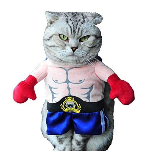 Pugilist Costume (PetBoBo Pet Dog Cat Pugilist Halloween Party Fancy Tidy Costume for Dog Cat Jacket Apparel)
