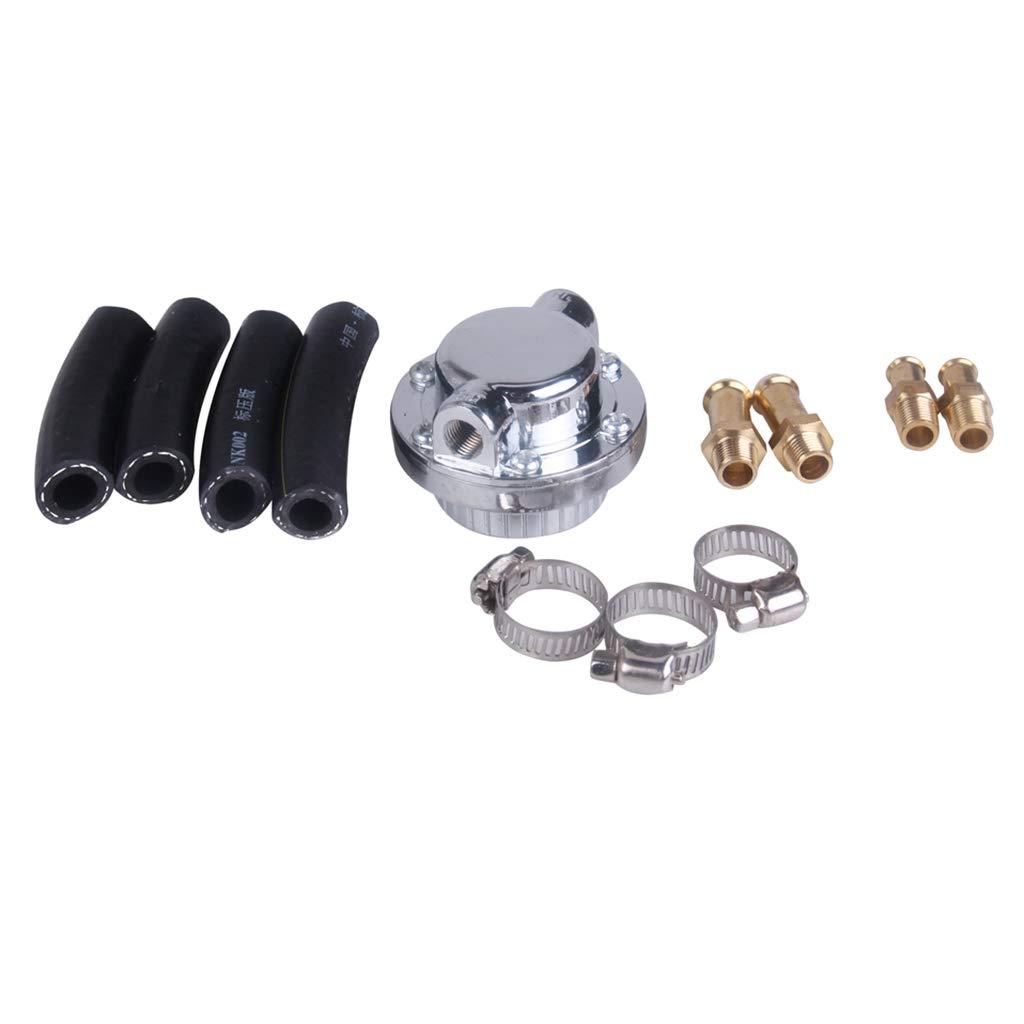 B Blesiya Car 1-5 PSI Fuel Pump Pressure Regulator 8mm 10mm Tail Carburettor