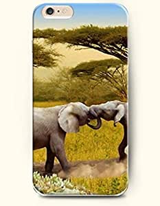 New Case Cover For Apple Iphone 5C Hard Case Cover - Two Elephants Fighting