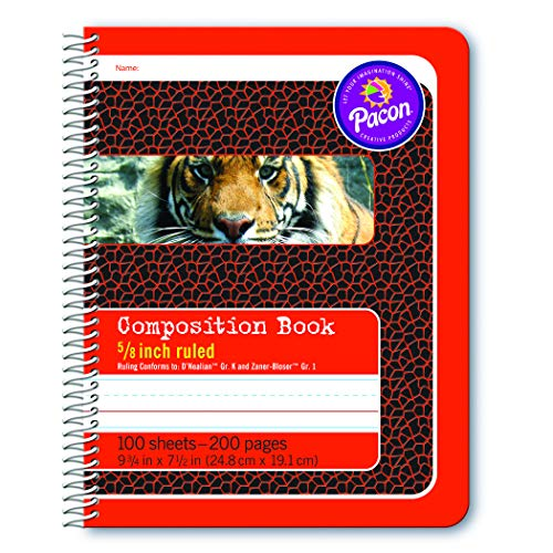 Pacon Primary Composition Spiral Book 5/8-in. Ruled, 100