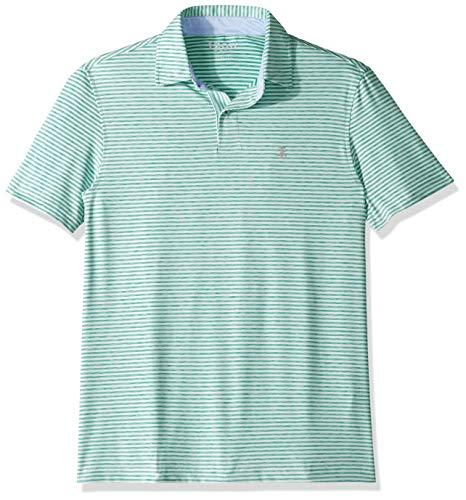 IZOD Men's Golf Greenie Short Sleeve Stripe Polo, Deep Green, X-Large