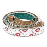 2 X 72 Inch 36 Grit Metal Grinding Zirconia Sanding Belts, 6 Pack