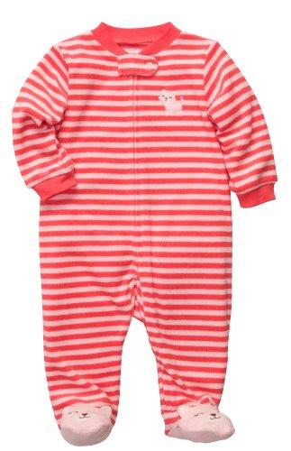 Carter's Terry Snap - Poppy Stripe Kitty- Newborn -