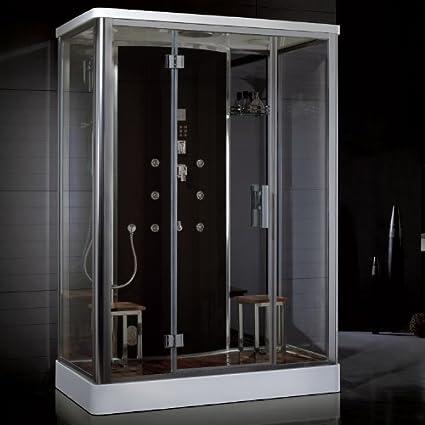 Ariel Platinum Series DZ956F8 BLK Steam Shower