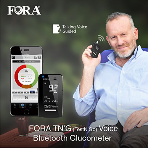 FORA TN'G (Test N' GO) Voice Blood Glucose Meter-Bluetooth - Import It All