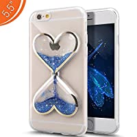 Urberry Iphone 7PLUS Case, Blue Clear Gel Liquid Case for 5.5 inch iPhone 7PLUS with a Screen Protector by Urberry