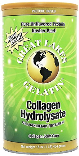 Great Lakes Gelatin, Certified Paleo Friendly, Keto Certified, Collagen Hydrolysate, Peptides, Pasture-Raised Grass-Fed, Non GMO, 16 oz, FFP