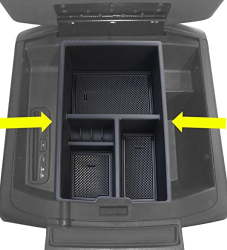 Car Center Console Organizer Tray Storage Box for Dodge Ram 1500 Accessories 2009-2018(Full Console w/ Bucket Seats ONLY)