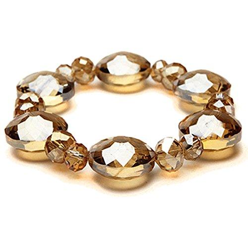 KALIFANO KALIFANO Florence Gorgeous Crystal Bracelet - Crystal Golden Shadow Golden Shadow Crystal Bracelet