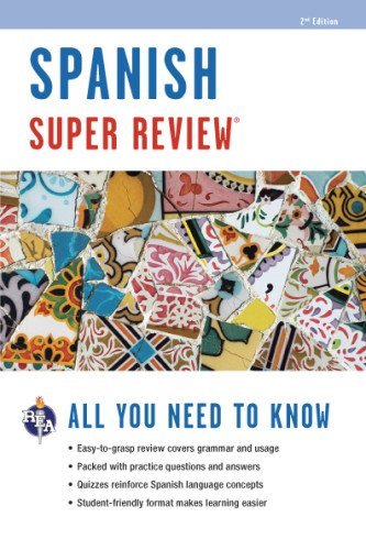Spanish Super Review (Super Reviews Study Guides) (English and Spanish Edition)