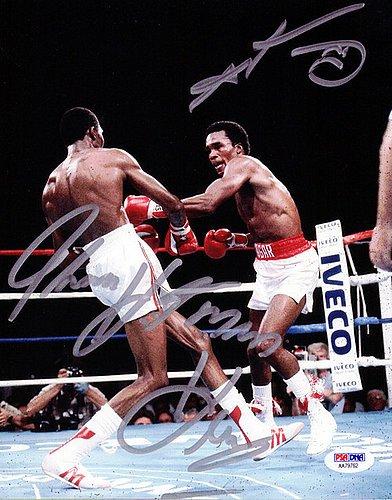 Sugar Ray Leonard and Thomas Hitman Hearns Signed 8x10 Photo - PSA/DNA Authentication - Boxing Memorabilia