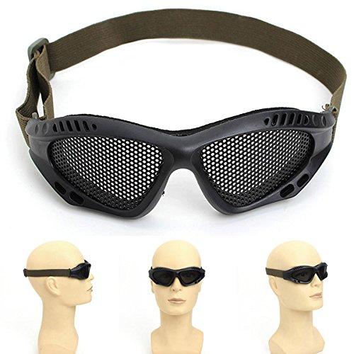 QOJA steel mesh outdoor goggle personal protective equipment
