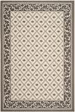 Safavieh Courtyard Collection CY7427-079A5 Beige and Dark Beige Indoor/Outdoor Area Rug (4′ x 5'7″)