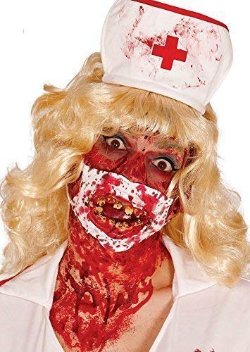 Ladies Mens Dead Bloody Zombie Halloween Face Mask Fancy Dress Costume Outfit -