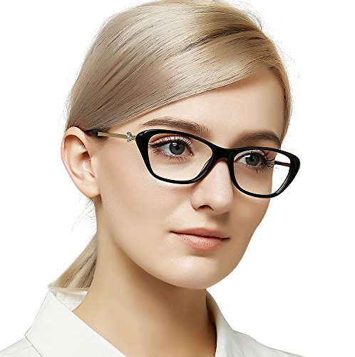 OCCI CHIARI Women's Eye glasses Butterfly No-Prescription Optical Glasses Fashion Eyeglasses Frame 53mm (Womens Optical Eyeglass Frame)