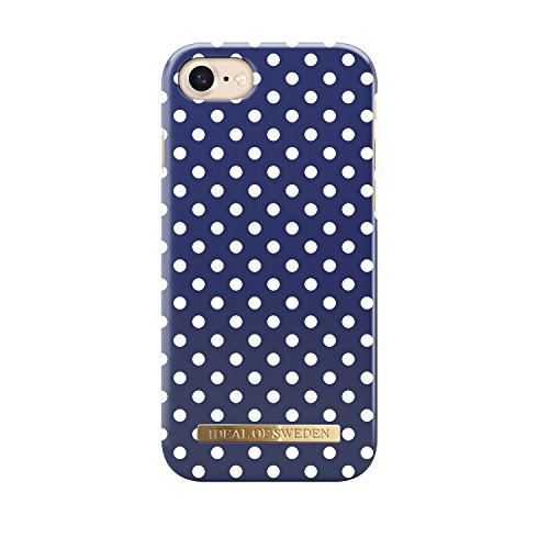 iDeal of Sweden Magnetically Compatible Fashion Cellphone Case for iPhone 7 in Beautiful Preppy Design (Blue Polka (Preppy Dots)