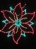 LED Large Poinsettias Holidynamics Light