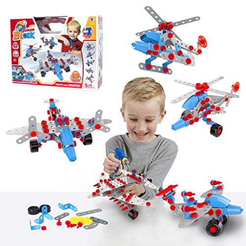 GILI Construction Engineering Building Toys Gifts for Kids Age 5-8, Educational STEM Learning Kits for 5, 6, 7 Year Old Boys & Girls, Creativity DIY Set