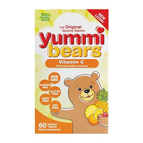 Yummi Bears Vitamin C Chewable Gummy Vitamin Supplement for Kids, 60 Gummies