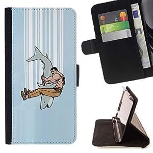 Momo Phone Case / Flip Funda de Cuero Case Cover - Mandíbula combate Tiburón;;;;;;;; - LG Nexus 5 D820 D821