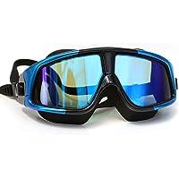 Premium Polarized Big Large Frame Swim Goggles Blue