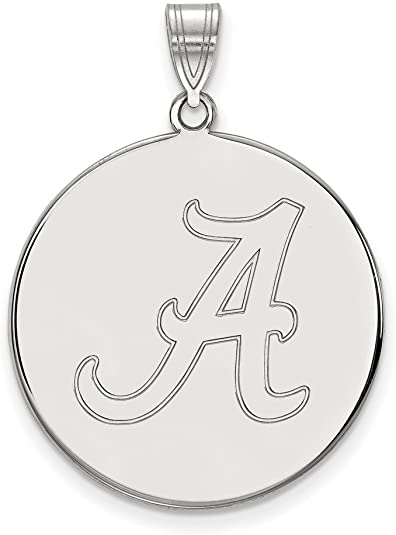 Solid 925 Sterling Silver Official Transylvania University XL Extra Large Big Enamel Disc Pendant Charm 32mm x 25mm