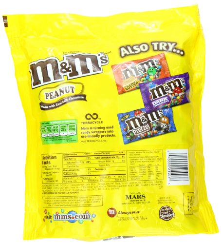 How many calories in 10 peanut m&ms