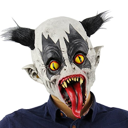 LZLRUN 2018 Halloween Horror Clown Mask for Women Men Kids Scary Masquerade Costumes (Style5) ()
