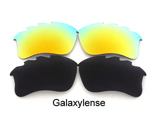 a40f403a7f Amazon.com  Galaxy Replacement Lens For Oakley Flak Jacket xlj VENTED Sunglasses  Black Gold Polarized  Clothing