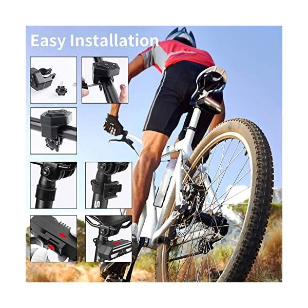 MojiDecor Fanale Posteriore per Bicicletta Impermeabile USB Ricaricabile Luce Posteriore Bici con LED Indicatore di Direzione 3 Modalità d'Illuminazione Lampada per Mountain Bike Bicicletta 6 spesavip