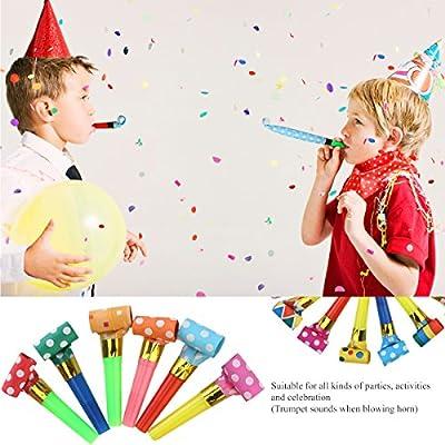 NUOLUX Party Horns Noisemakers Blowouts - 48pcs: Toys & Games