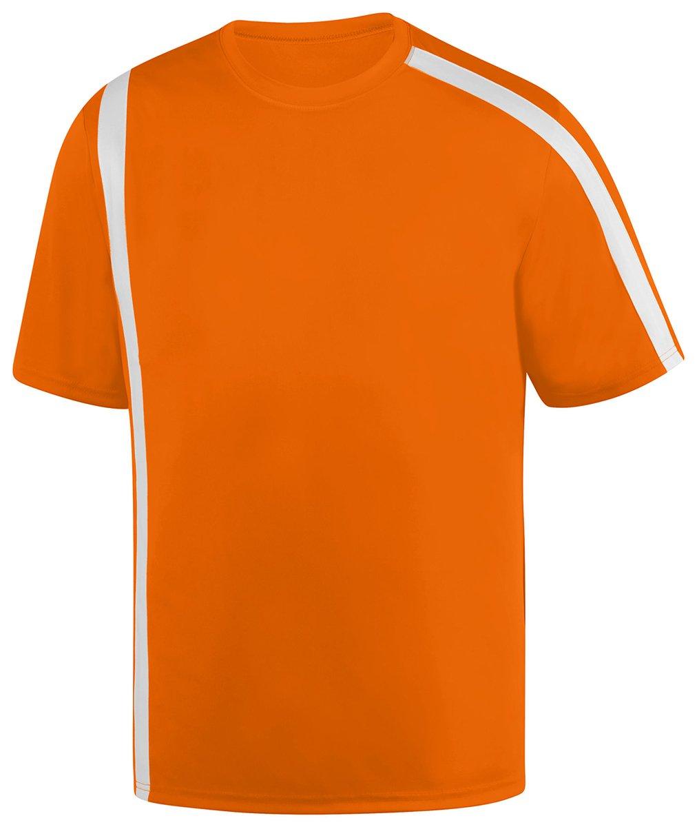 Augusta SportswearメンズAttacking Third Jersey B01DQ7GCWS Large|Power Orange/White Power Orange/White Large