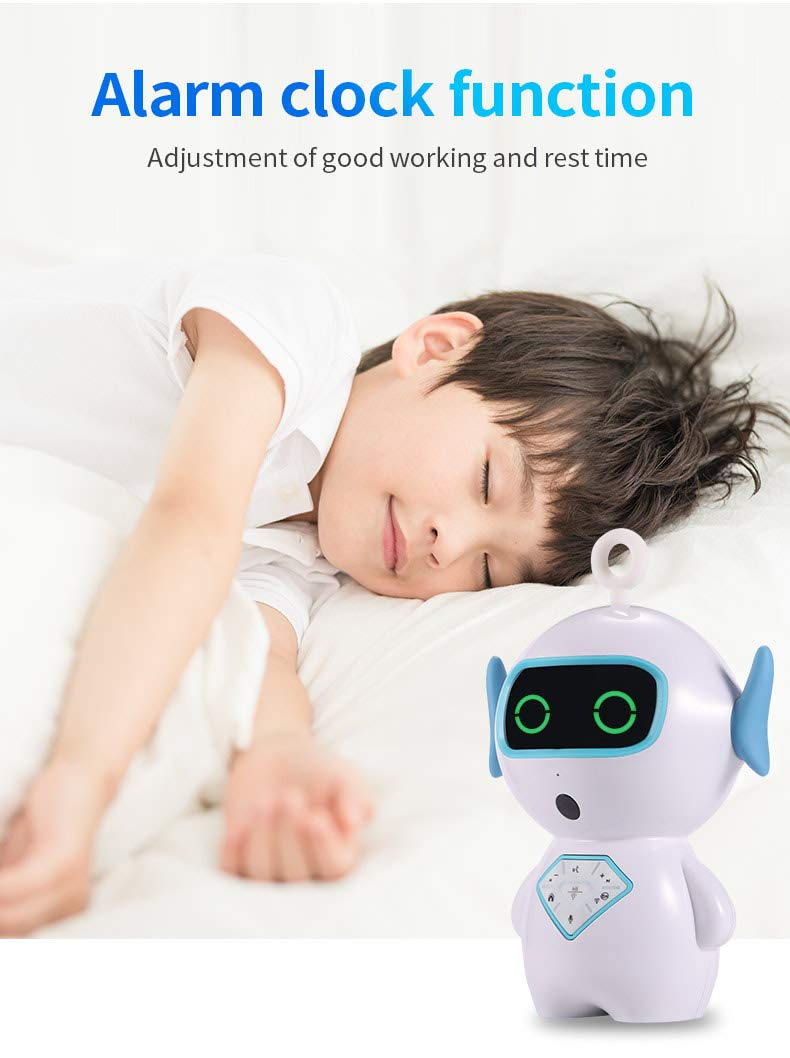 Smart Robot Toy Educational Toy Gift APP Control for Kids with LED Light Intelligent Voice Control,Dialogue, Singing, Tell Stories,Chat,Setup Clock (Blue)