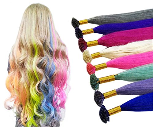 remmehi-20-strands-colored-party-highlight-straight-pre-bonded-cross-shaped-remy-human-hair-extensio