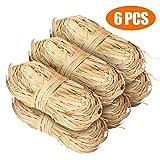 Cinta de rafia natural perfecta para manualidades o decoración de ramos, 300g