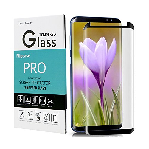 Galaxy S8 Screen Protector,Galaxy S8 Tempered Glass,[Case Friendly][Anti-Bubble][3D Curved Glass]Tempered Glass Screen Protector