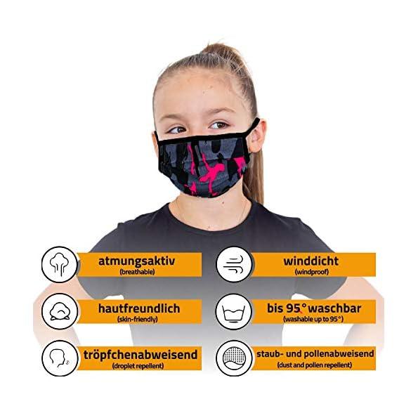 3er-Pack-Mundschutz-Maske-Kinder-Junge-Mdchen-waschbar-camouflage-pink-aus-100-Baumwolle-Oeko-TEX-100-Standard-Earloop-Design-wiederverwendbare-Behelfs-Maske-fr-Mund-Nase-Ab-10