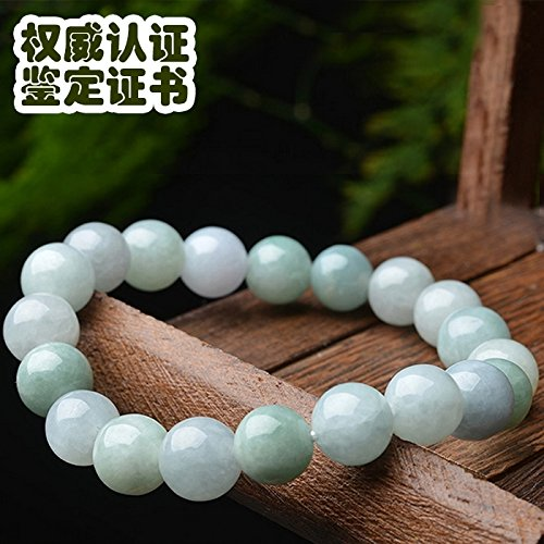 - Shipment Natural Burma Jade Bracelet Bangle Women Girls Models Jewelry ice Kinds Jade Beads Hand String (8mm Symmetry [Type]
