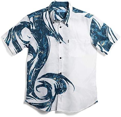 [MAJUN (マジュン)] 国産シャツ かりゆしウェア アロハシャツ 結婚式 メンズ 半袖シャツ ボタンダウン 響涼(おとすずみ)