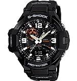 Men's G-Shock GA-1000-1A Resin Black/Black Watch by G-Shock