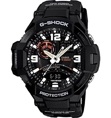 Men's G-Shock GA-1000-1A Resin Black/Black Watch by G-Shock