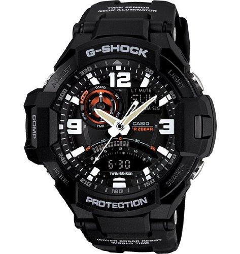 G-Shock GA-1000-1A Aviation Series Men's Luxury Watch - Black / One Size - Casio G Shock Aviator