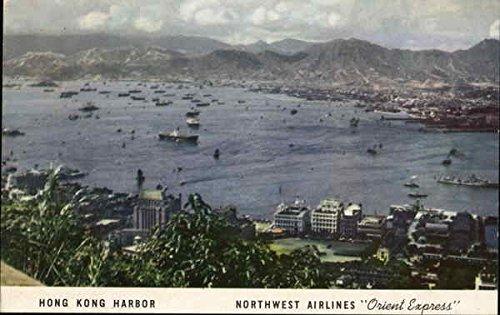 panoramic-view-of-harbor-hong-kong-china-original-vintage-postcard