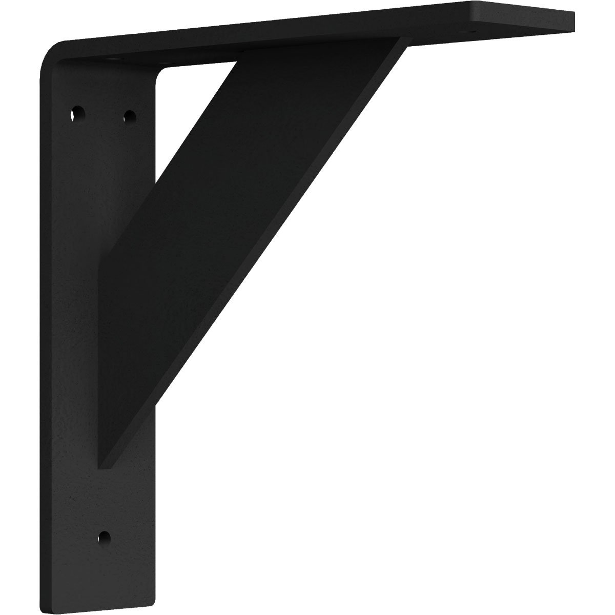 Ekena Millwork BKTM02X08X08TRHBL 2''W x 8''D x 8''H Traditional Steel Bracket, Hammered Black