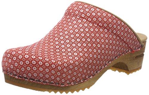 Sanita Damen Sis Open Clogs Rot (rosso)