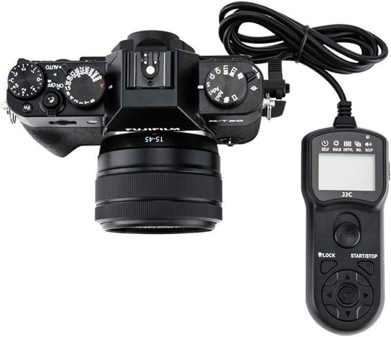 JJC Camera Remote Shutter Release Cable Cord Fits for Fuji Fujifilm X-T3 X-T2 X-T1 X-T30 X-T20 X-T10 X-T100 X-Pro2 X-E3 X-E2S X-E2 X-A5 X-A10 X-H1 X100F X100T X70 X30 XF10 GFX 50S Replaces Fuji RR-100