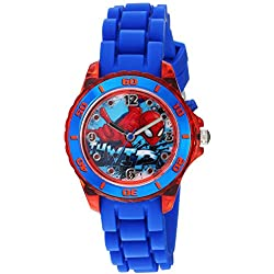 Marvel Boy's Quartz Plastic and Silicone Casual Watch, Color:Blue (Model: SPD9032)