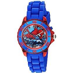 Marvel Boy's Quartz Plastic and Silicone Casual Watch, Color:Blue (Model: SPD9032)