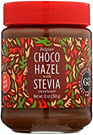 Belgian Choco Hazel with Stevia 12 oz (350g) - No Added Sugar - A healthy & delicious Option For Those Who